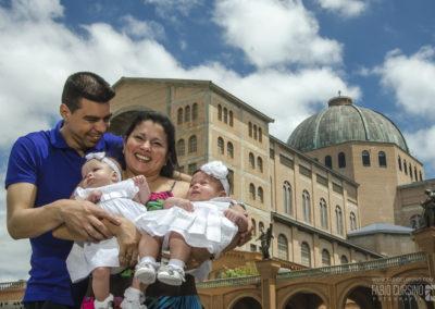 Batizado Maria Eduarda e Mariana Basílica de Nossa Senhora Aparecida